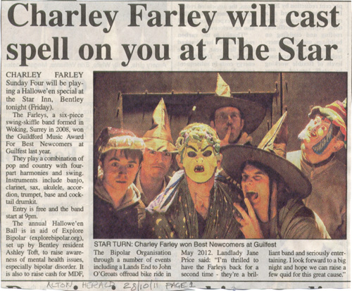 Charley Farley Sunday Four in the Alton Herald